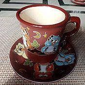Посуда handmade. Livemaster - original item Ceramic decorative vase handmade: Owls on branch. Handmade.