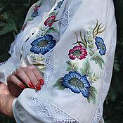 Одежда handmade. Livemaster - original item Embroidered blouse of Batiste