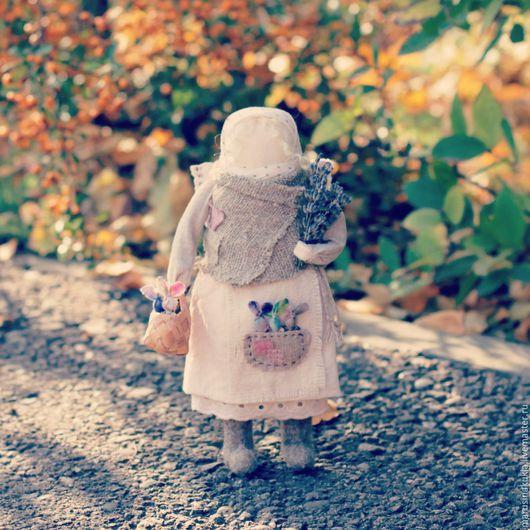 """Народные куклы ручной работы. Ярмарка Мастеров - ручная работа. Купить """"Ангел с зайчиками"""". Handmade. Комбинированный, подарок на рождество"""