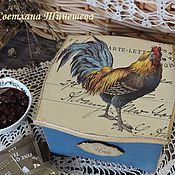 """Подарки к праздникам ручной работы. Ярмарка Мастеров - ручная работа Чайный короб """"Петушок"""". Handmade."""