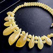 Украшения handmade. Livemaster - original item Necklace made of natural solid amber. Handmade.