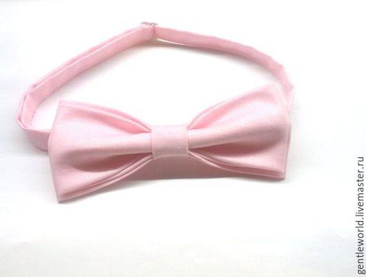 """Галстуки, бабочки ручной работы. Ярмарка Мастеров - ручная работа. Купить галстук бабочка """"Розовый зефир"""". Handmade. Бледно-розовый"""