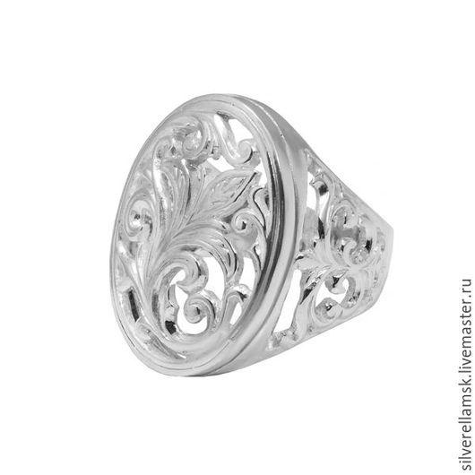 """Кольца ручной работы. Ярмарка Мастеров - ручная работа. Купить Серебряное кольцо-перстень """"Цветок"""" (серебро 925) USR016. Handmade."""