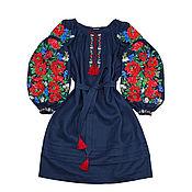 """Одежда handmade. Livemaster - original item Платье-вышиванка """"Цветочная Феерия"""". Handmade."""