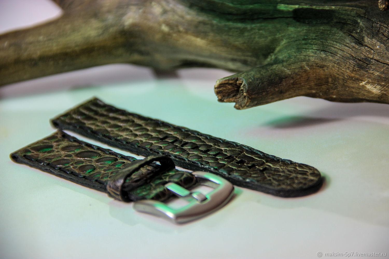 Ремешок для часов из итальянской кожи кожаный ремешок на часы купить, Ремешок для часов, Курган,  Фото №1