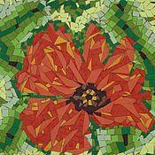 """Картины и панно ручной работы. Ярмарка Мастеров - ручная работа Мозаика, картина """"Маков цвет"""". Handmade."""