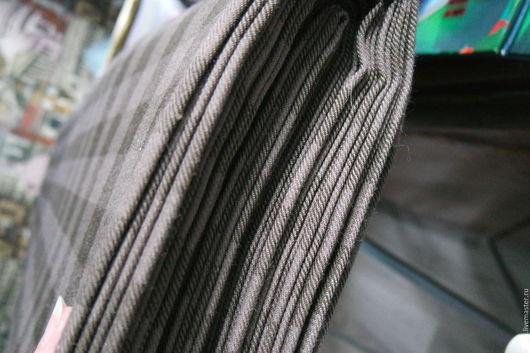 Шитье ручной работы. Заказать Костюмная ткань коричневая клетка. 'Ykkka' - вязаные изделия. Ярмарка Мастеров. Костюмная ткань, ткани
