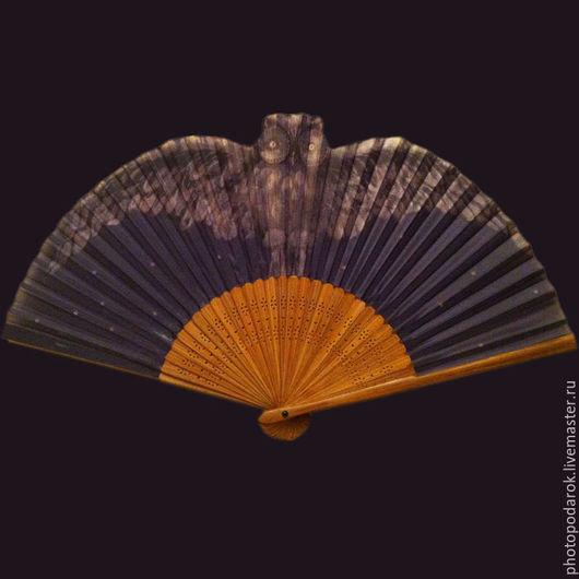 """Веера ручной работы. Ярмарка Мастеров - ручная работа. Купить Веер  """"Сова"""". Handmade. Комбинированный, веера, совы, совушки"""