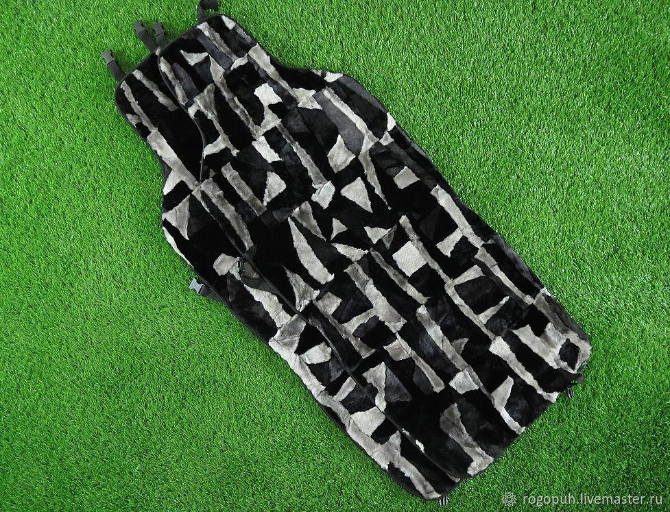 Fur capes made of sheepskin 'mosaic', 2 PCs. (No. №727), Car souvenirs, Nalchik,  Фото №1