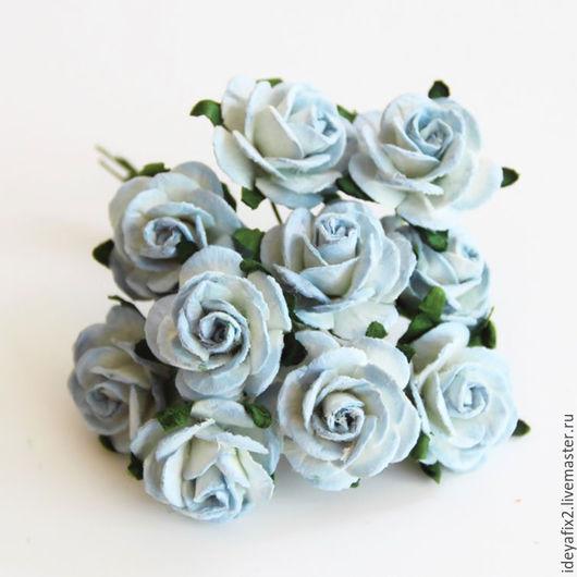 Диаметр цветочка 2 см. Длина проволочного стебелька 6 см.  Цена указана за букетик из 5 шт.