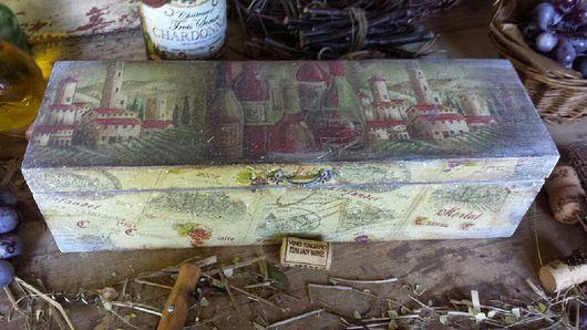 """Корзины, коробы ручной работы. Ярмарка Мастеров - ручная работа. Купить """"Chateau St. Christophe"""" Короб для вина.. Handmade. Короб"""