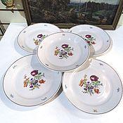 Винтаж handmade. Livemaster - original item Plates Cutlery 5 piece MEISSEN BOUQUET Dulevo 60s. Handmade.