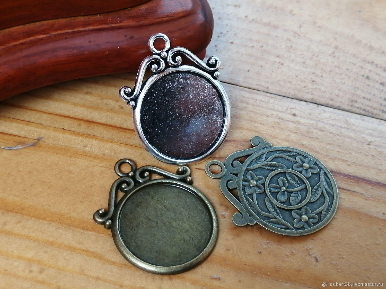 Base for the pendant, 25 mm. Art.OKL182, Blanks for jewelry, Irkutsk,  Фото №1