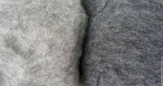 Валяние ручной работы. Ярмарка Мастеров - ручная работа. Купить Кардочес ново-зеландский 27микрон серый меланжевый. Handmade.
