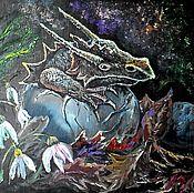 Картины и панно ручной работы. Ярмарка Мастеров - ручная работа Мой друг- дракон. Handmade.