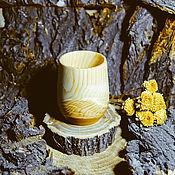 Посуда handmade. Livemaster - original item Wooden Glass Siberian Cedar Ware, wooden Tea #C8. Handmade.