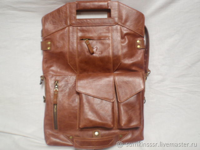 2010d1362a2b Мужские сумки ручной работы. Ярмарка Мастеров - ручная работа. Купить  Кожаная сумка-ранец ...