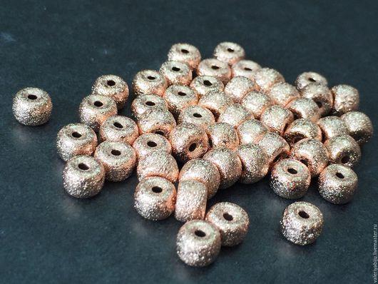 """Для украшений ручной работы. Ярмарка Мастеров - ручная работа. Купить Бусины """"Звездная пыль Pink Gold Plated""""(2 размера). Handmade."""
