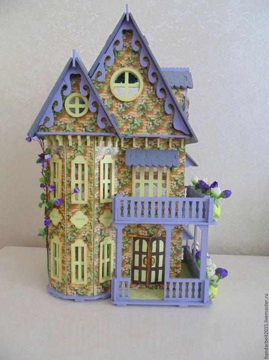 Кукольный дом ручной работы. Ярмарка Мастеров - ручная работа. Купить Кукольный домик. Handmade. Мятный, мебель для кукол