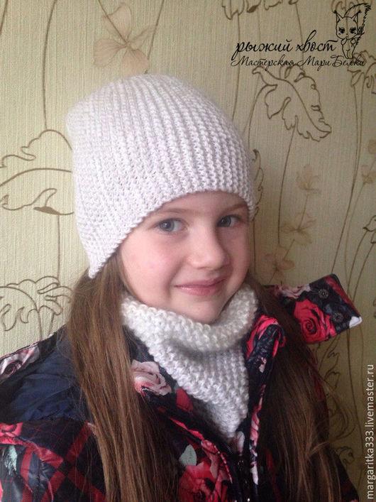 Детские аксессуары ручной работы. Ярмарка Мастеров - ручная работа. Купить Комплект Модница шапка-бини и шарф-снуд. Handmade.