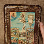 Картины и панно handmade. Livemaster - original item Icon of St. Basil the Blessed, Wonderworker of Moscow. Handmade.
