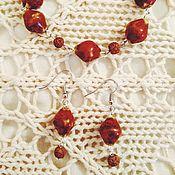 Украшения ручной работы. Ярмарка Мастеров - ручная работа Комплект украшений из керамических бусин #2. Handmade.