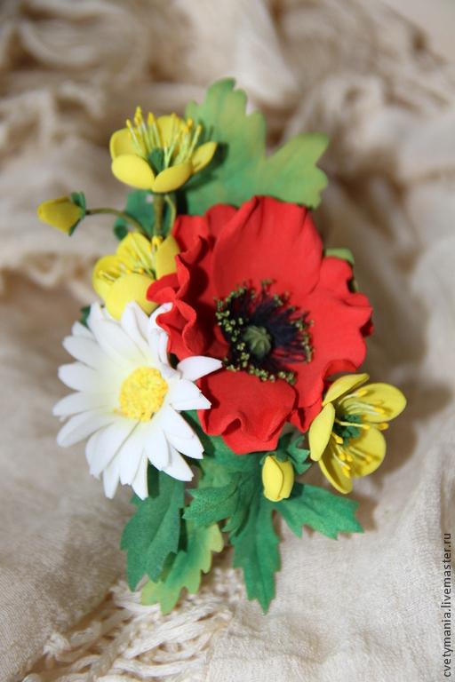 """Броши ручной работы. Ярмарка Мастеров - ручная работа. Купить """"FLOWERMIX №1"""". Фом эва. Handmade. Подарок, цветы из фоамирана"""
