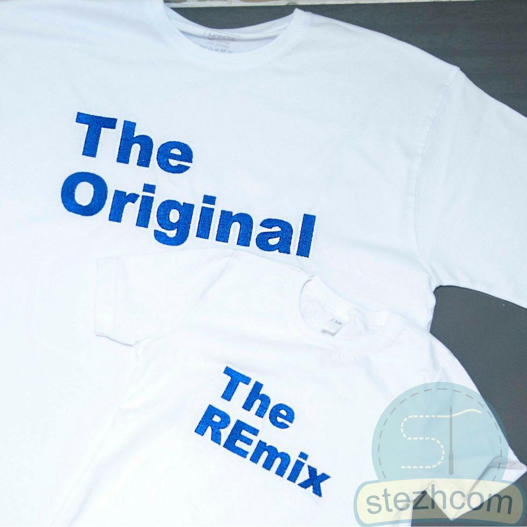 Футболка с вышивкой надписи (парные футболки) – купить в интернет ... 75d0baa661fdf