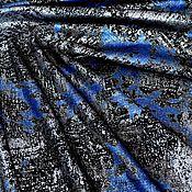 Материалы для творчества handmade. Livemaster - original item Natural suede-Shiny coating blue-silver 0,45 mm. Handmade.