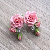 Украшения ручной работы. Ярмарка Мастеров - ручная работа Серьги с розами. Handmade.