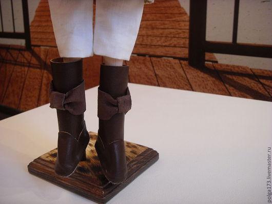 """Одежда для кукол ручной работы. Ярмарка Мастеров - ручная работа. Купить Сапожки для Тильды """"Шоколадный бант"""". Handmade. Коричневый, обувь"""