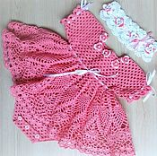Работы для детей, manualidades. Livemaster - hecho a mano Bebé vestido - body. Handmade.