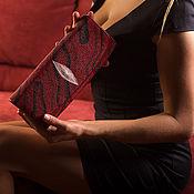 Сумки и аксессуары handmade. Livemaster - original item Women`s clutch bag leather Stingray IMC0062RBWC. Handmade.