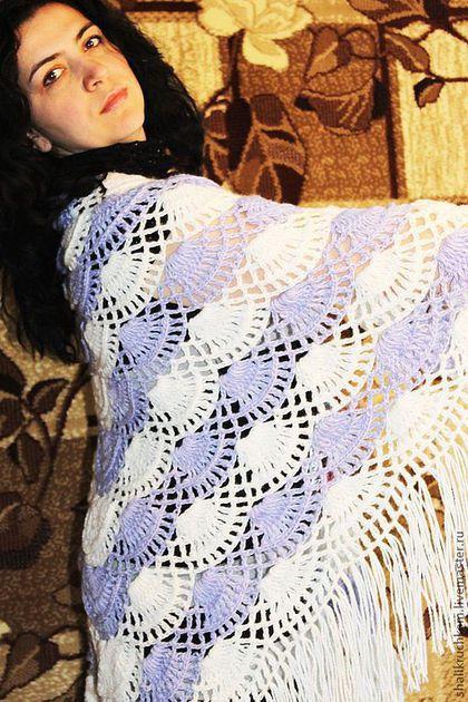"""Шали, палантины ручной работы. Ярмарка Мастеров - ручная работа. Купить Шаль """"Ажур"""". Handmade. Шаль, шаль вязаная"""