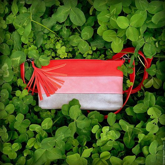 Женские сумки ручной работы. Ярмарка Мастеров - ручная работа. Купить Кожаная сумочка-клатч. Handmade. Комбинированный, натуральная кожа