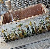 """Для дома и интерьера ручной работы. Ярмарка Мастеров - ручная работа """"Olive oil"""" короб. Handmade."""