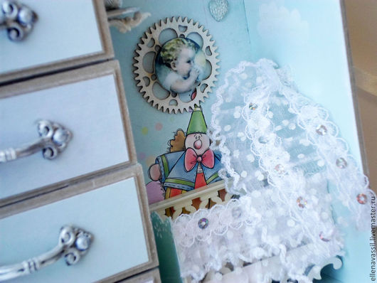 Шкатулка `Мамины сокровища` в виде детской комнаты Ручная работа Ярмарка мастеров Елена Колегова