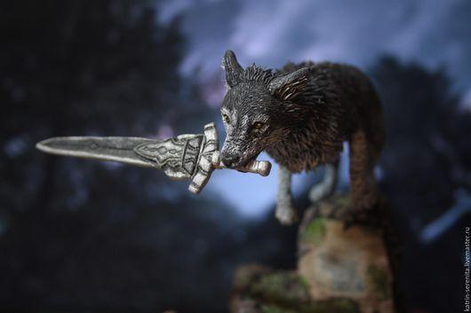 Сказочные персонажи ручной работы. Ярмарка Мастеров - ручная работа. Купить Великий волк фигурка Dark Souls Сиф. Handmade.