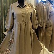 Одежда handmade. Livemaster - original item Flax dress. Handmade.