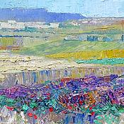 handmade. Livemaster - original item Oil painting on canvas 30h40 for interior Lavender field. Handmade.