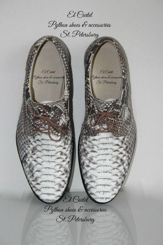 Обувь ручной работы. Ярмарка Мастеров - ручная работа. Купить Мужские туфли из питона. Handmade. Туфли из питона, мужские ботинки