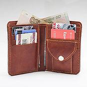 Сумки и аксессуары handmade. Livemaster - original item Vertical wallet made of genuine leather. Handmade.