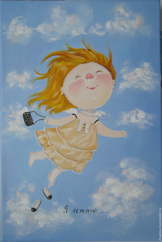 Картинки ангелочек рисует