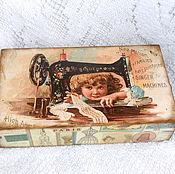 Для дома и интерьера handmade. Livemaster - original item Box pencil case Fashionista. Handmade.
