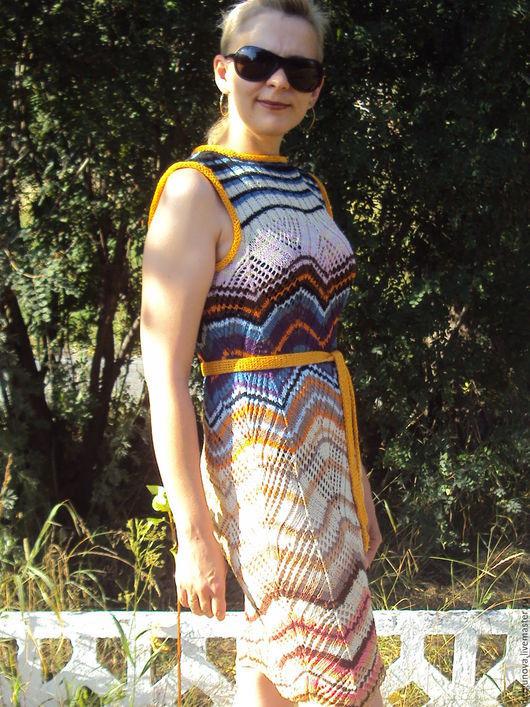 Платья ручной работы. Ярмарка Мастеров - ручная работа. Купить Платье. Handmade. Разноцветный, полосатое
