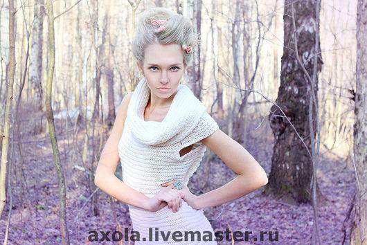 """Платья ручной работы. Ярмарка Мастеров - ручная работа. Купить Платье """"Гофре"""". Handmade. Платье вязаное, белый"""