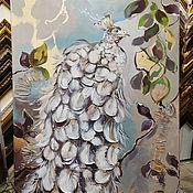 Картины и панно handmade. Livemaster - original item Silver Peacock painting on canvas. Handmade.