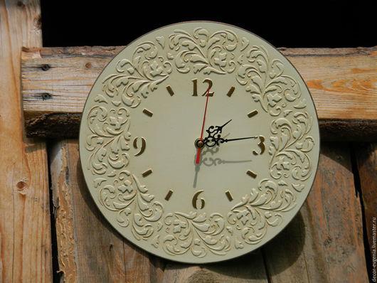 Часы для дома ручной работы. Ярмарка Мастеров - ручная работа. Купить Часы настенные. Handmade. Бежевый, часы ручной работы
