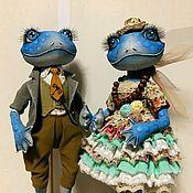 Dolls handmade. Livemaster - original item a couple of Frogs. Interior textile doll. Handmade.