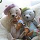 Мишки Тедди ручной работы. Мишутка Скай из серии Акварельки. Jingle Bears. Ярмарка Мастеров. Минимишка, мишенька